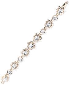 Marchesa Gold-Tone Crystal Link Bracelet