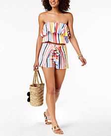 Bar III Crop-Top & Cover-Up Shorts, Created for Macy's