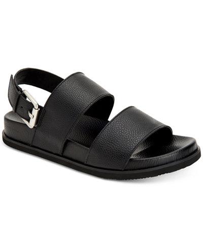 Calvin Klein Men's Magnum Smooth Tumbled Leather Sandals
