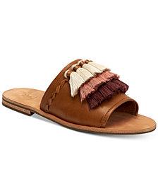 Frye Women's Riley Tassel Slide Sandals
