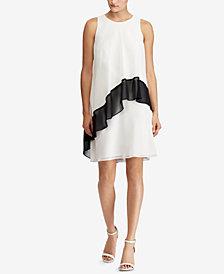 Lauren Ralph Lauren Two-Tone Georgette Dress