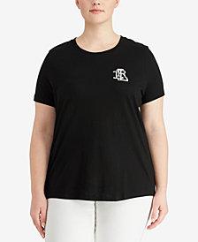 Lauren Ralph Lauren Plus Size Jersey T-Shirt, Created for Macy's