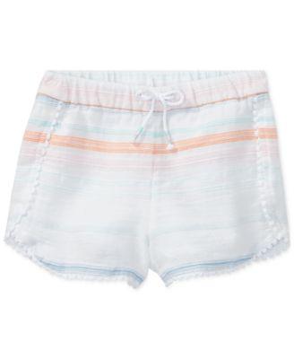 Polo Ralph Lauren Striped Cotton Shorts, Toddler Girls