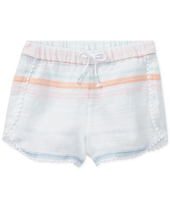 Polo Ralph Lauren Striped Cotton Shorts, Little Girls
