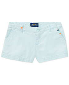 Polo Ralph Lauren Cotton Chino Shorts, Little Girls