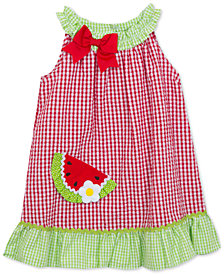 Rare Editions Watermelon Gingham Seersucker Dress, Little Girls