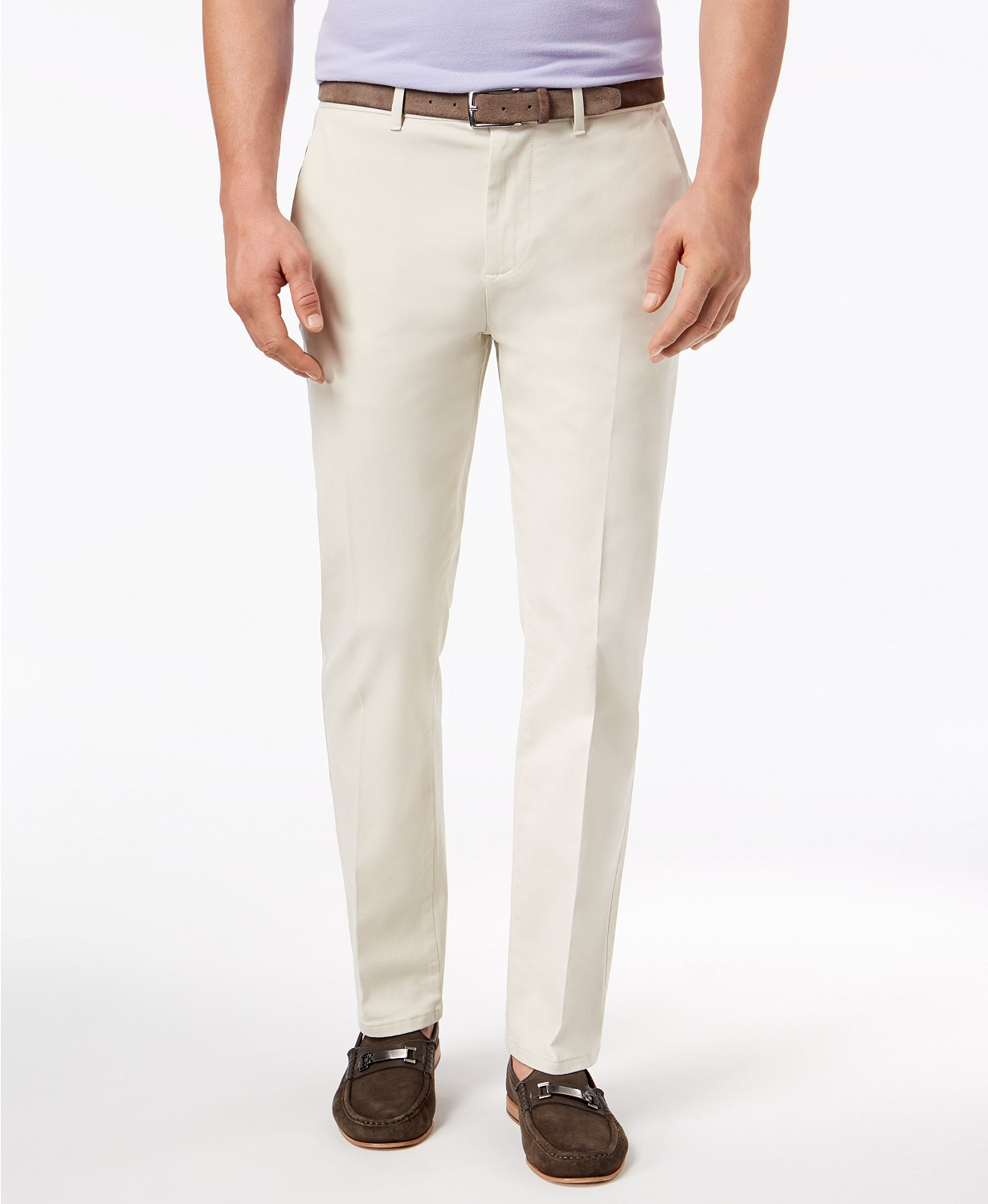 DKNY Men's Slim-Fit Tapered-Leg Sateen Pants