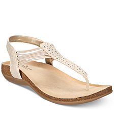 Bandolino Honour B-Flexible Wedge T-strap Sandals
