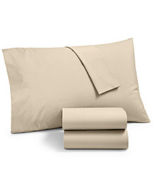 Martha Stewart Essentials Solid 220 Thread Count 4-Pc. Queen Sheet Set, Created for Macy's