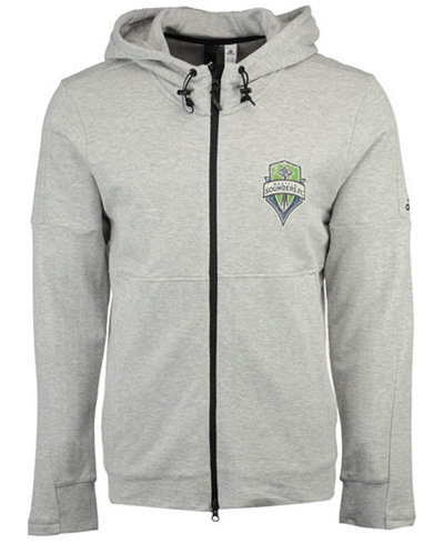 adidas Men's Seattle Sounders FC Ultimate Worn Full-Zip Hoodie