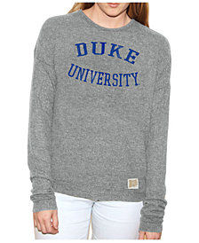 Retro Brand Women's Duke Blue Devils Lightweight Haachi Crew Sweatshirt