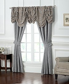 "Carrick Ruched 18"" x 55"" Damask Window Valance"