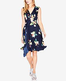 RACHEL Rachel Roy Floral-Print Faux-Wrap Dress, Created for Macy's