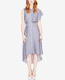 RACHEL Rachel Roy Striped One-Sleeve Shirtdress, Created for Macy's