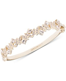 Givenchy Crystal Hinged Bangle Bracelet