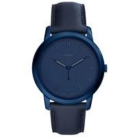 Fossil Men's Minimalist Blue 44mm Leather Strap Watch