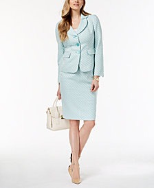 Le Suit Petal-Collar Skirt Suit