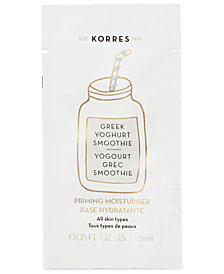 Receive a Free Greek Yoghurt Smoothie Packette with any $35 KORRES purchase