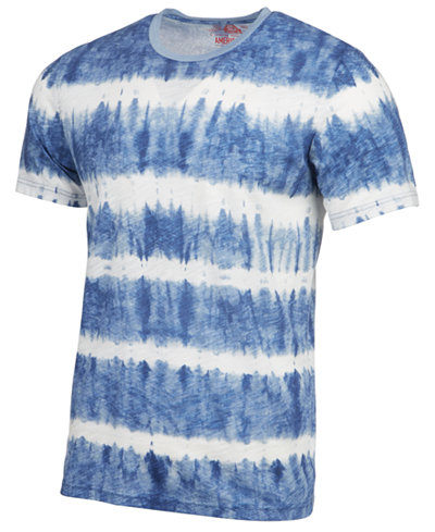 American Rag Men's Tie Dye Striped T-Shirt, Created for Macy's