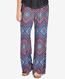 NY Collection Printed Pull-On Pants