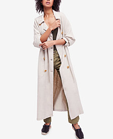 Free People Sweet Melody Duster Trench Coat