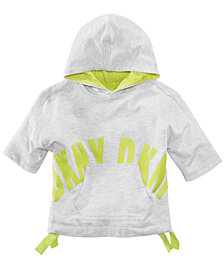DKNY Short Sleeve Hoodie, Big Girls