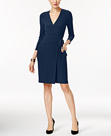 Anne Klein Faux-Wrap Dress