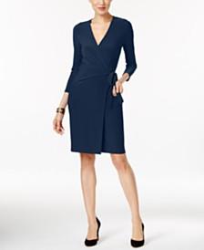 Anne Klein Faux-Wrap Dress