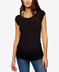 A Pea In The Pod Maternity Ruched Scoop-Neck T-Shirt