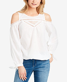 Jessica Simpson Juniors' Alba Cold-Shoulder Blouse