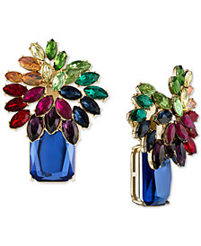 RACHEL Rachel Roy Gold-Tone Multi-Stone Cluster Clip-on Earrings