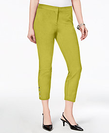 Alfani Snap-Hem Ankle-Length Pants, Created For Macy's