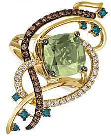 Le Vian Exotics® Crazy Collection® Mint Julep Quartz™ (3-1/4 ct. t.w.) & Diamond (3/4 ct. t.w.) Statement Ring in 14k Gold