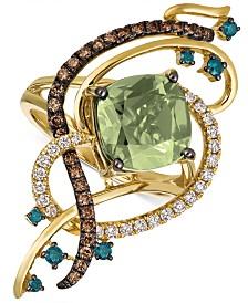 Le Vian Exotics® Crazy Collection® Mint Julep Quartz™ (3-1/4 ct. t.w.) & Diamond (3/4 ct. t.w.) Statement Ring in 14k Gold