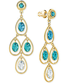 Swarovski Gold-Tone Ombré Crystal Chandelier Earring Jackets