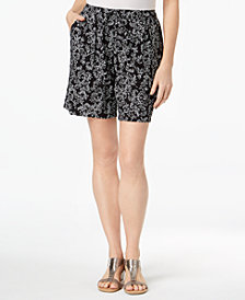Karen Scott Petite Printed Shorts, Created for Macy's