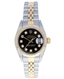 Pre-Owned Rolex Women's Datejust Jubilee 18K Yellow Gold & Stainless Steel Bracelet Watch 26mm