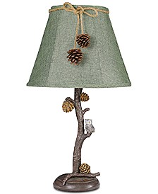 AHS Lighting Pine Branch With Owl Accent Lamp