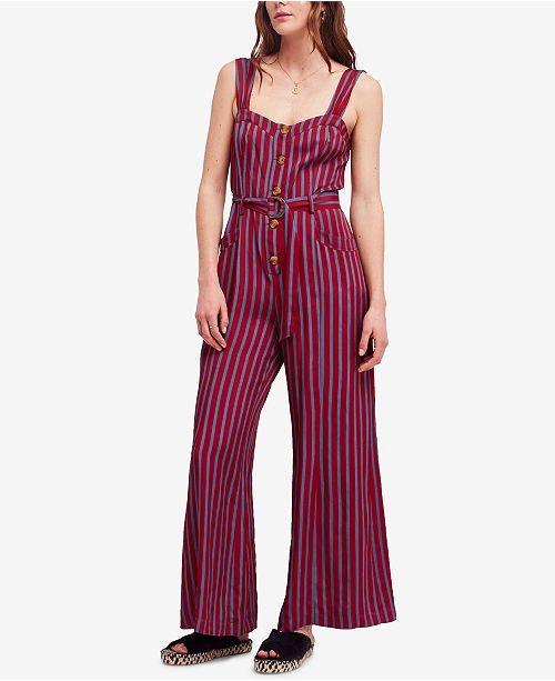 b4664af6d7da Free People City Girl Striped Wide-Leg Jumpsuit   Reviews - Pants ...