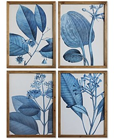 Wood Framed Wall Art, Set of 4