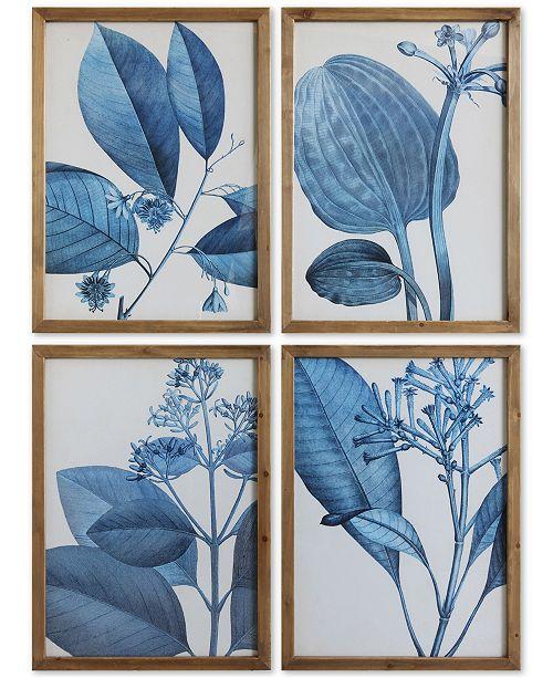 3R Studio  Wood Framed Wall Art, Set of 4