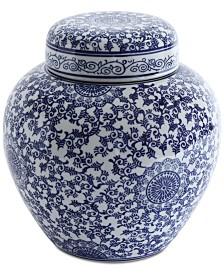 Decorative Stoneware Ginger Jar
