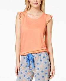 Jenni By Jennifer Moore Ruffle Cap Sleeve Tee, Created for Macy's
