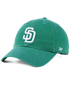 '47 Brand San Diego Padres Kelly White CLEAN UP Cap