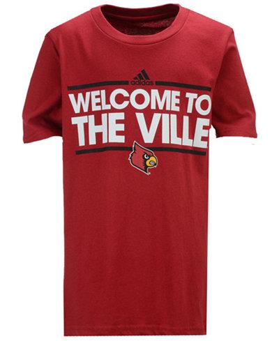 adidas Louisville Cardinals Dassler Local T-Shirt, Big Boys (8-20)