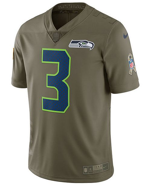 finest selection a4cc6 25311 Nike Men's Russell Wilson Seattle Seahawks Salute To Service ...