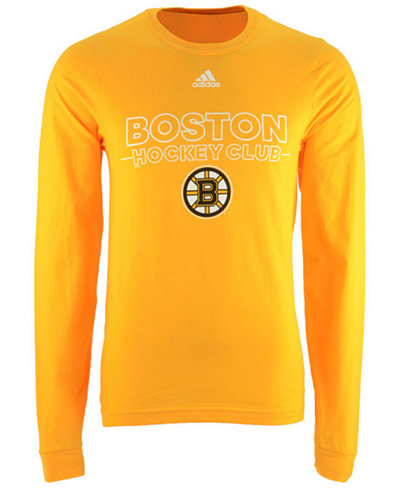 adidas Men's Boston Bruins Frontline Long Sleeve T-Shirt