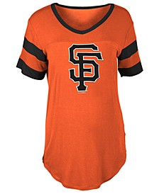 Women's San Francisco Giants Sleeve Stripe Relax T-Shirt