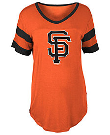 5th & Ocean Women's San Francisco Giants Sleeve Stripe Relax T-Shirt
