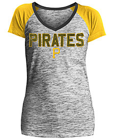 5th & Ocean Women's Pittsburgh Pirates Space Dye Stone T-Shirt